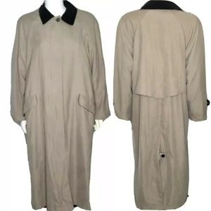 ANNE KLEIN Womens Trench Coat Removable Liner